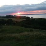 Solnedgang over fjorden